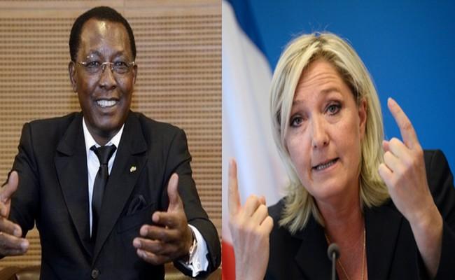 Marine Le Pen auprès de l'armée française au Tchad: Idriss Déby va-t-il parier sur la candidate frontiste à l'élection présidentielle française de 2017 ?