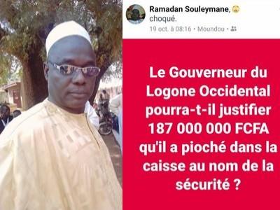 Tchad: à Moundou, un huissier de justice en prison pour avoir accusé le gouverneur du Logone occidental d'avoir «pioché 187 millions dans la caisse au nom de la sécurité»