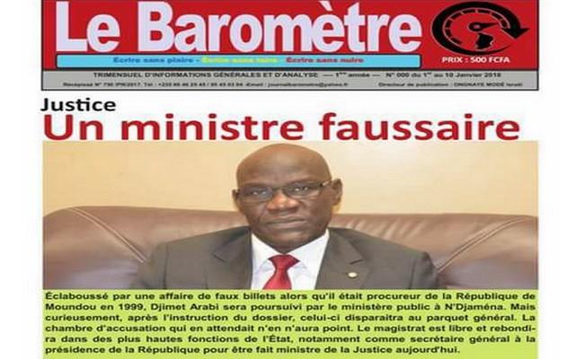 Promotion de la délinquance au Tchad: un ancien faussaire de billets nommé Garde des Sceaux