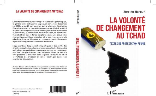 Nouveau livre de Haroun Zorrino: «La volonté de changement au Tchad»