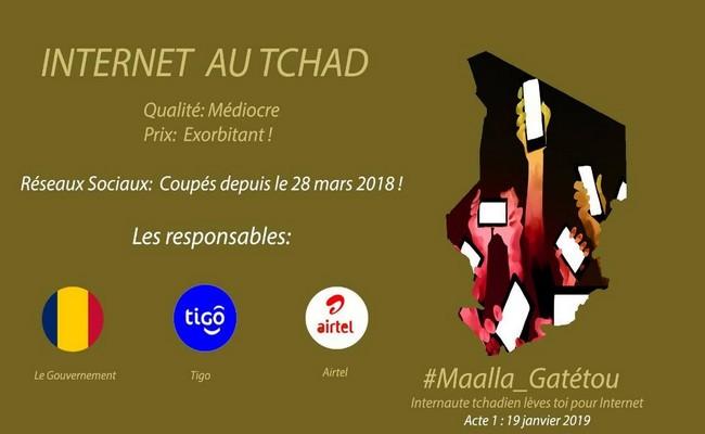 «Maalla Gatétou»: manifestation virtuelle pour dénoncer les 10 mois de censure d'internet au Tchad